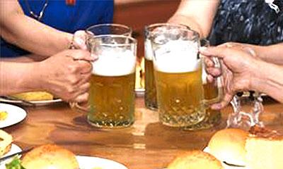 7種類の大同江ビール、自家製パンが人気